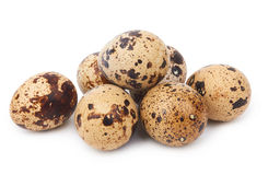 Quail eggs isolated Stock Photo