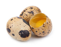 Quail eggs isolated Royalty Free Stock Photos