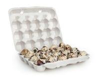 Quail eggs isolated on white Stock Photos