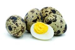 Quail eggs isolated on white background royalty free stock photos