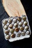 Quail eggs, photographed in a simple rustic style.Simple protein-rich foods. royalty free stock image