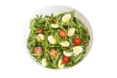 Quail eggs salad in a bowl Royalty Free Stock Image