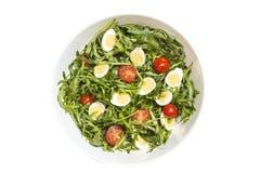 Quail eggs salad Stock Images
