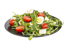 Quail eggs salad image with clipping path Royalty Free Stock Image