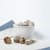 Quail eggs still life Royalty Free Stock Photo