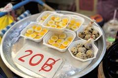 Quail eggs. On the street thailand royalty free stock photos
