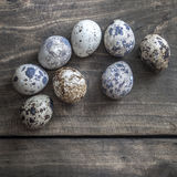 Quail eggs on the table Royalty Free Stock Images
