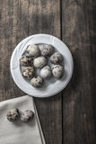 Quail eggs on the table Royalty Free Stock Photography