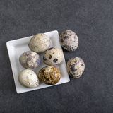 Quail eggs on the table Royalty Free Stock Image