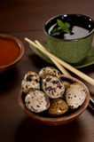 Quail Eggs with Tea Royalty Free Stock Image