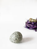 Quail eggs on a white background. Close-up Royalty Free Stock Photos