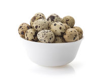 Quail eggs on white Royalty Free Stock Photography