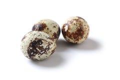 Quail eggs on white Royalty Free Stock Photos