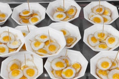Quail Fried Eggs stock photo