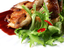 Quail fried meat Royalty Free Stock Photos