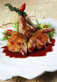 Quail fried meat Stock Images