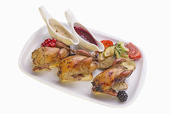 Quail GRILL Stock Photography