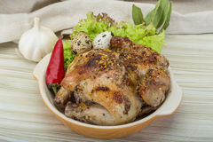 Quail grilled Stock Photo