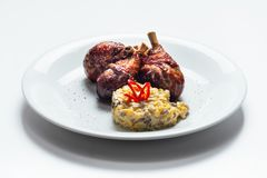 Quail grilled legs Stock Image