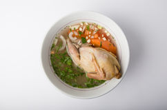 Quail soup in a bowl Royalty Free Stock Photo
