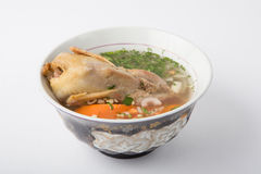 Quail soup in a bowl Royalty Free Stock Images