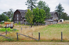 Quaint Barn & Pasture in Rural Washington State Royalty Free Stock Photography