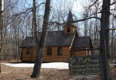 Quaint church. A beautuful little church near Fort St John, BC, Canada Stock Photography