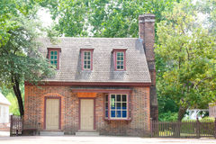 Quaint Colonial Home. A small cottage home in the state of Virginia built during the American colonial period Stock Images