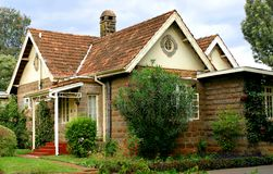 Quaint Cottage. In Kenya stock image