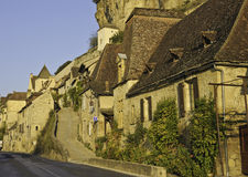 Quaint Frans dorp royalty-vrije stock afbeeldingen