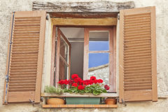 Quaint French window Stock Images