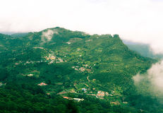 Quaint hills. View of a quaint hill station in india Royalty Free Stock Photos