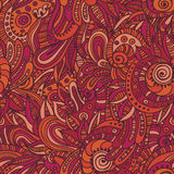 Quaint indian seamless pattern Stock Image
