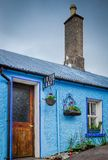Quaint Irish Craft House. A small Irish craft house sits on a quiet street in Dingle, Ireland stock photo