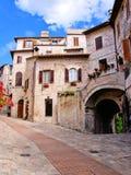 Quaint Italian houses stock image