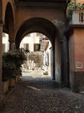 Quaint Italian town alley. Quaint, narrow street in an old Italian town Stock Image