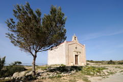 Quaint Medieval Chapel, Malta. One of the many little medieval chapels in the countryside of Malta Stock Photos