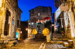 Quaint medieval village of St. Paul de Vence in Cote d`Azur, France.  royalty free stock photography