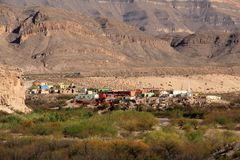 Boquillas del Carmen as Viewed from Big Bend National Park Royalty Free Stock Photos
