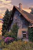 Quaint old Austrian house in morning glow Royalty Free Stock Images