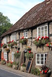 Quaint Old British Pub in Summer, England. Stock Image