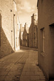 Quaint Orkney lane. Narrow street in the town of Stromness, Orkney, Scotland Royalty Free Stock Photography