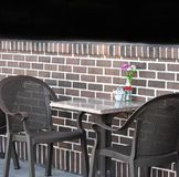 Quaint outdoor dining area for two Royalty Free Stock Image