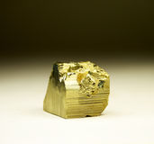 Quaint piece of pyrite Stock Photography