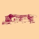 Quaint plattelandshuisje Royalty-vrije Stock Afbeeldingen