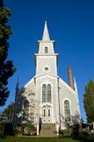 Quaint popular small wedding church. Picturesque quaint small town church ideal for weddings - Port Gamble, Washington USA Stock Photos