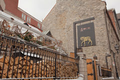 Quaint Restaurant in the Old City, Montreal Stock Photo