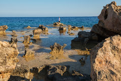 Quaint seascape Cavo Greco Royalty Free Stock Photo