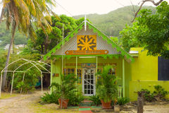 A quaint shop promoting the arts in the windward islands royalty free stock images