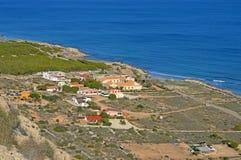 A Quaint Spanish Seaside Village stock image